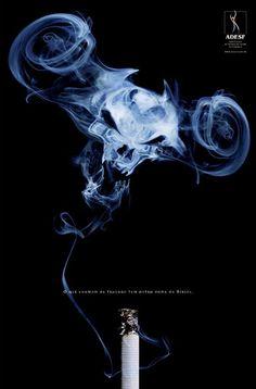 Anti-smoking advertising design