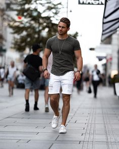 20 casual mens outfits ideas with white sneakers 11 ⋆ talkinggames net is part of Summer outfits men - 20 casual mens outfits ideas with white sneakers 11 Best Men's Street Style, Streetwear Summer, Summer Outfits Men, Summer Men, Casual Outfits, Simple Outfits, Casual Shirts, Casual Wear For Men, Mens Casual Summer Style