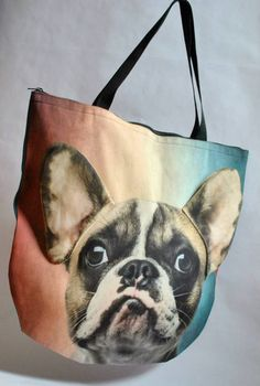 #PerfectChristmasGift 3D Bag with Face of French Bulldog Rainbow. – Limitless Bags UK