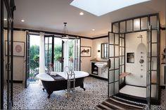 Deirdre Doherty Interiors www.ddidesigns.com photo by Ryan Philips Spanish Industrial Bathroom House Beautiful Top 10 Bathrooms