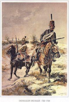 Cavalleggeri e ussaro austriaco