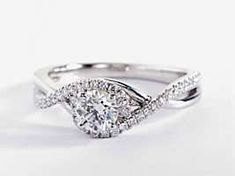 Other Fine Rings Solid 14k White Gold Proposal 0.88 Ct Diamond Engagement Ring Size N S Jewelry & Watches