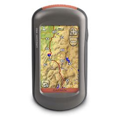 Garmin Oregon 450. This GPS is pretty good. I like that it is rugged, and waterproof. It has an SD card slot, barometer, altimeter, and compass on a full color touch screen.