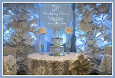 Final Gallery Bella Blossom Diy Wedding Decorations, Birthday Decorations, Wedding Backdrops, Table Decorations, Silver Color Palette, Event Decor, Event Ideas, 40th Birthday, Birthday Ideas
