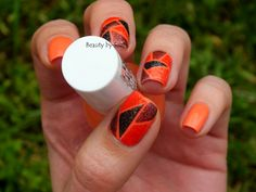 Miss Sporty Crush on You - colour block nail art