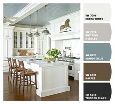 Sherwin Williams' Moody Blue on the ceiling (Let's Chip It, Sherwin Williams)
