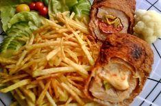 Töltött karaj | Receptkirály.hu Hungarian Recipes, Hungarian Food, Sweet And Salty, Bacon, Pork, Dishes, Chicken, Cooking, Minden