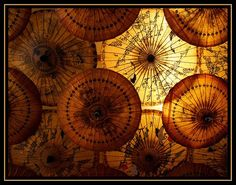 Beautiful room divider made with Chinese fans