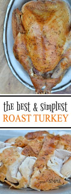 This easy dry-brining technique for making roast turkey requires nothing more th. - This easy dry-brining technique for making roast turkey requires nothing more than kosher salt, and - Whole Turkey Recipes, Roast Turkey Recipes, Chicken Recipes, Thanksgiving Turkey, Thanksgiving Recipes, Holiday Recipes, Holiday Meals, Dry Brine Turkey, Roasted Turkey