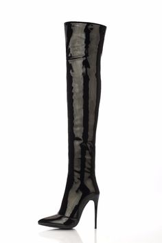 eeb84b4ba8b Patent Leather Over the Knee Boots - Red or Black. Thigh high boots are so