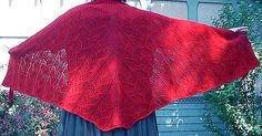 """Ravelry: Dragon Wings Shawl pattern by Robbyn Kenyon, Free Pattern Cascade Yarns Cascade 220® Worsted / 10 ply (9 wpi) ? 4 stitches = 1 inch in Dragon skin stitch pattern US 9 - 5.5 mm 900 - 950 yards (823 - 869 m) Sizes available One size - 72"""" wise and 48"""" from top to bottom"""