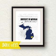 Graduation Sale  University of Michigan  Hail by PaperFinchDesign, $10.00