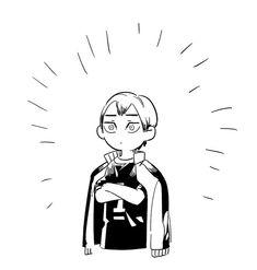 Haikyuu Manga, Manga Anime, Haikyuu Fanart, Anime Guys, Anime Art, Haikyuu Characters, Anime Characters, Haikyuu Volleyball, Karasuno