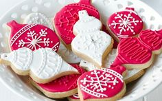 5 recipes glaze for an elegant Christmas cookies - @aswoodle