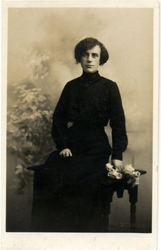 Vintage Real Photo Postcard of a Young Woman c. 1900s. £2.50, via Etsy.