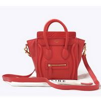 Celine Luggage Small Fashion Bag Watermelon Red