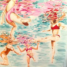 Four Swimmers Under Water, Ashley Longshore art.
