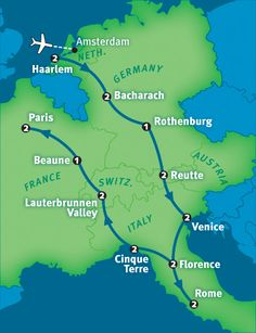itinerary for 21 days to see the best of Europe.