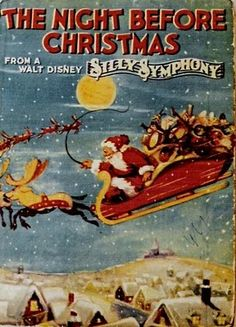 walt disney silly symphony the night before christmas Christmas Cartoons, Christmas Books, Christmas Music, Disney Christmas, Vintage Christmas Cards, Retro Christmas, Christmas Time, Disney Holidays, Childrens Christmas