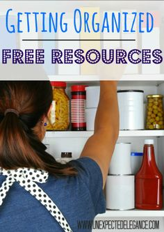 Getting Organized with Free Printables and Resources