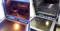 ¿Tu horno ha llegado a un punto de suciedad incrustada imposible de quitar? Límpialo con este truco