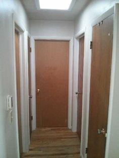 Hallway Before Replacing Interior Doors Amazing Transformations Door Replacement Paint Walls Lake