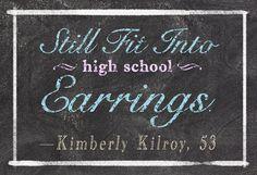 Reader Kimberly Kileroy's six-word memoir.