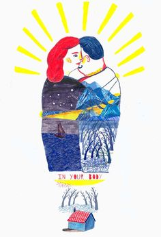 In my body you search for the hills, for its sun buried in the forest,  In your body I seek the boat lost in the middle of the night' Octavio Paz.    Illustration: Laura Gee