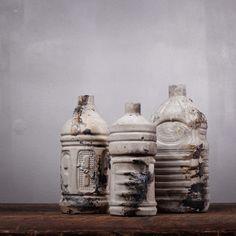 Fab.com   Concrete Bottle Art Set Of 3