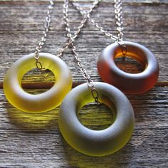 reVetro  Eco-friendly jewelry from recycled glass bottles..threesome necklace from wine and tequila bottles...cool!