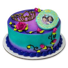 Disney's Descendants: Under Your Spell Cake Topper Party Supplies Canada - Open A Party