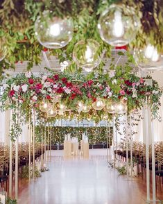 elegant indoor wedding at terra gallery — circular orb lighting - lush florals for indoor wedding in san francisco - kate siegel fine events Romantic Wedding Receptions, Romantic Weddings, Wedding Ceremony, Wedding Arches, Wedding Venues, Church Wedding Decorations, Ceremony Decorations, Street Design, San Francisco Art Galleries