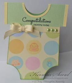 Luv 2 Scrap n' Make Cards: Baby Card