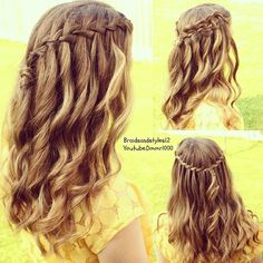 waterfall braid with curly hair , waterfall braid how to , waterfall braid diy , waterfall braid tutorial Youtube waterfall braid tutorial for beginners step by step : https://www.youtube.com/watch?v=-ry-texCenk&list=UU8ouEGIBm1GNFabA_eoFbOQ