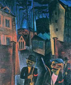 Ruhrrevier ll , 1920 by Conrad Felixmüller, (German 1897-1977)