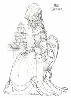Miss Havisham by Chris Riddell ★ || CHARACTER DESIGN REFERENCES (www.facebook.com/CharacterDesignReferences & pinterest.com/characterdesigh) • Love Character Design? Join the Character Design Challenge (link→ www.facebook.com/groups/CharacterDesignChallenge) Share your unique vision of a theme every month, promote your art and make new friends in a community of over 20.000 artists! || ★