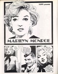 A Marilyn Monroe story drawn by Sergio Toppi. In Italian. Page 1