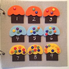 Counting Cupcakes quiet book page how to make
