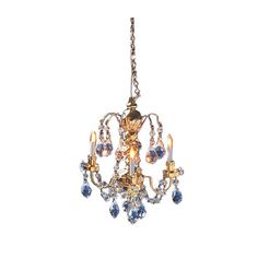 3-Arm Crystal Chandelier by Cir-Kit Concepts