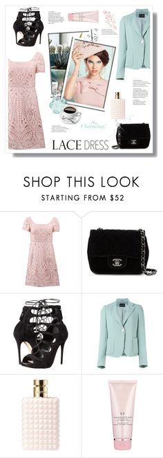 """""""LD"""" by stranjakivana ❤ liked on Polyvore featuring мода, Notte by Marchesa, Chanel, Alexander McQueen, Valentino, By Terry, AlexanderMcQueen, armani и lacedress"""