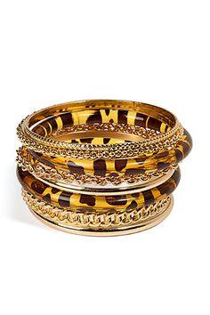 R.J.GRAZIANO  Gold Bangle Set
