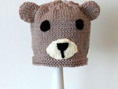 knitted Bear hat 3 - 8 years Crochet Hats, Felt, Teddy Bear, Toys, How To Make, Knitting Hats, Activity Toys, Felting, Toy
