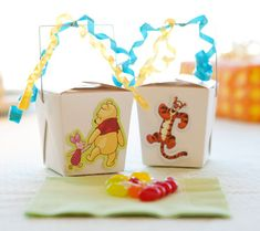 Winnie the Pooh First Birthday Party Ideas | Disney Baby | Favor Boxes