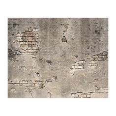 Brewster Wall Broken Concrete Wall Mural Wall Decal Old Brick Wall, Old Wall, Creative Wall Decor, Creative Walls, Vintage Tile, Vintage Walls, Broken Concrete, Concrete Walls, Contact Paper Wall