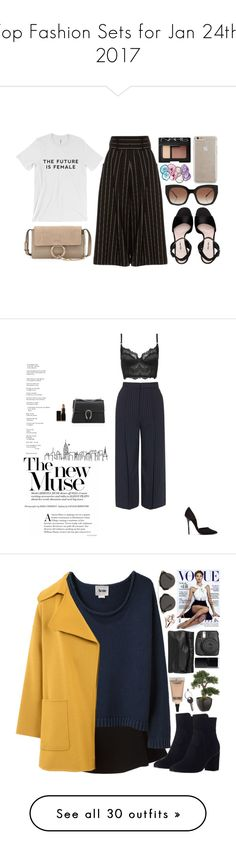 """""""Top Fashion Sets for Jan 24th, 2017"""" by polyvore ❤ liked on Polyvore featuring J.W. Anderson, Miu Miu, Chloé, NARS Cosmetics, RabLabs, Thierry Lasry, Case-Mate, Topshop, Steve Madden and Gucci"""