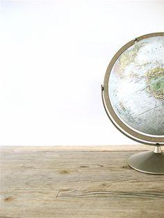 Vintage Replogle World Globe from lovintagefinds on @Etsy