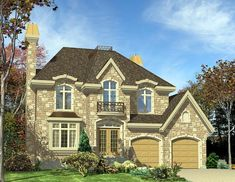 European   House Plan 48055 love the look just need it bigger