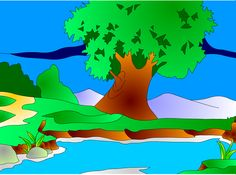 Árbol junto al río