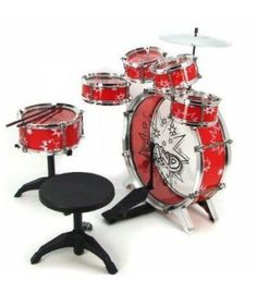 Kids Boy Girl Drum Set Musical Instrument Toy Playset RED Color: RED Size : XXL^Materials : Non Toxic Paint ABS plastic and Aluminium^Durable design Great quality Great and real Kids Drum set - Complete set^ Childrens Drum Set, Kids Drum Set, Junior Drum Set, Best Drums, Kids Stool, Kid Rock, Drum Kits, Musical Instruments, How To Introduce Yourself