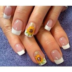 nice lisa and her sunflower Nail Art Gallery